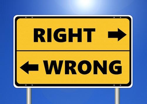 valori e convinzioni cartello