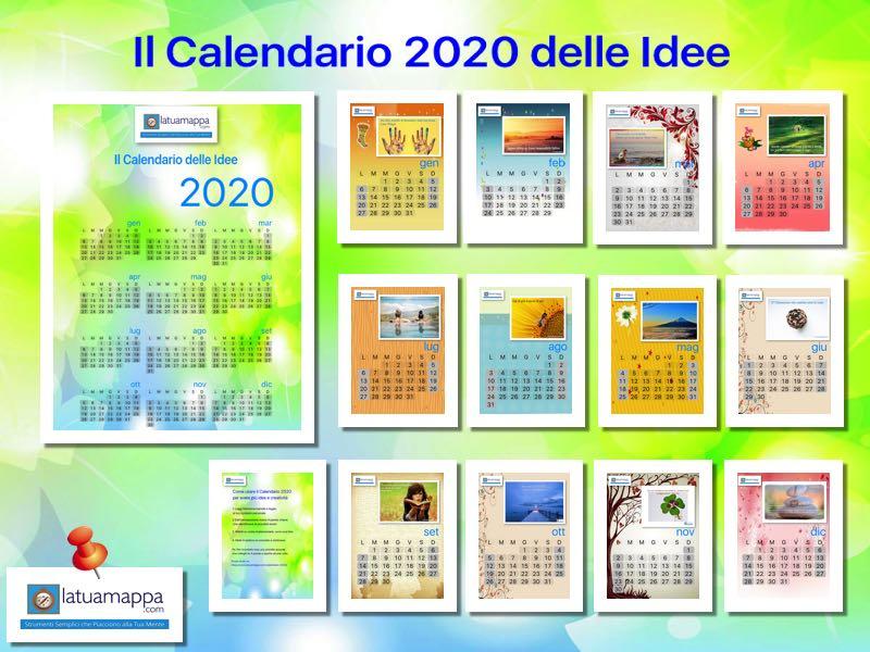 Calendario 2020 da stampare e sfruttare ogni settimana